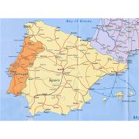 Elevation Map Of Spain.Elevation Map Of Portugal And Spain Portugal Europe Mapsland