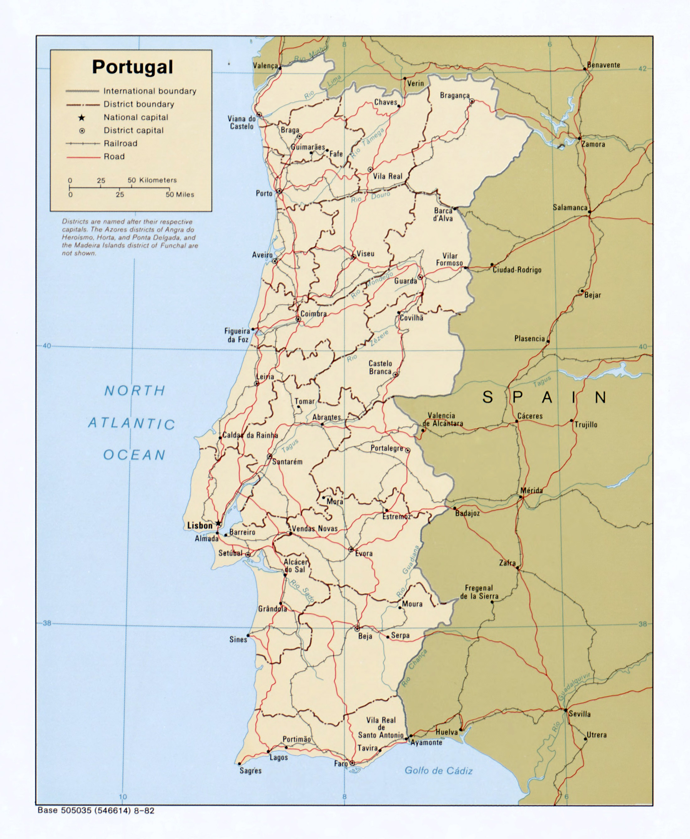 Large Detailed Political And Administrative Map Of Portugal With - Portugal map major cities