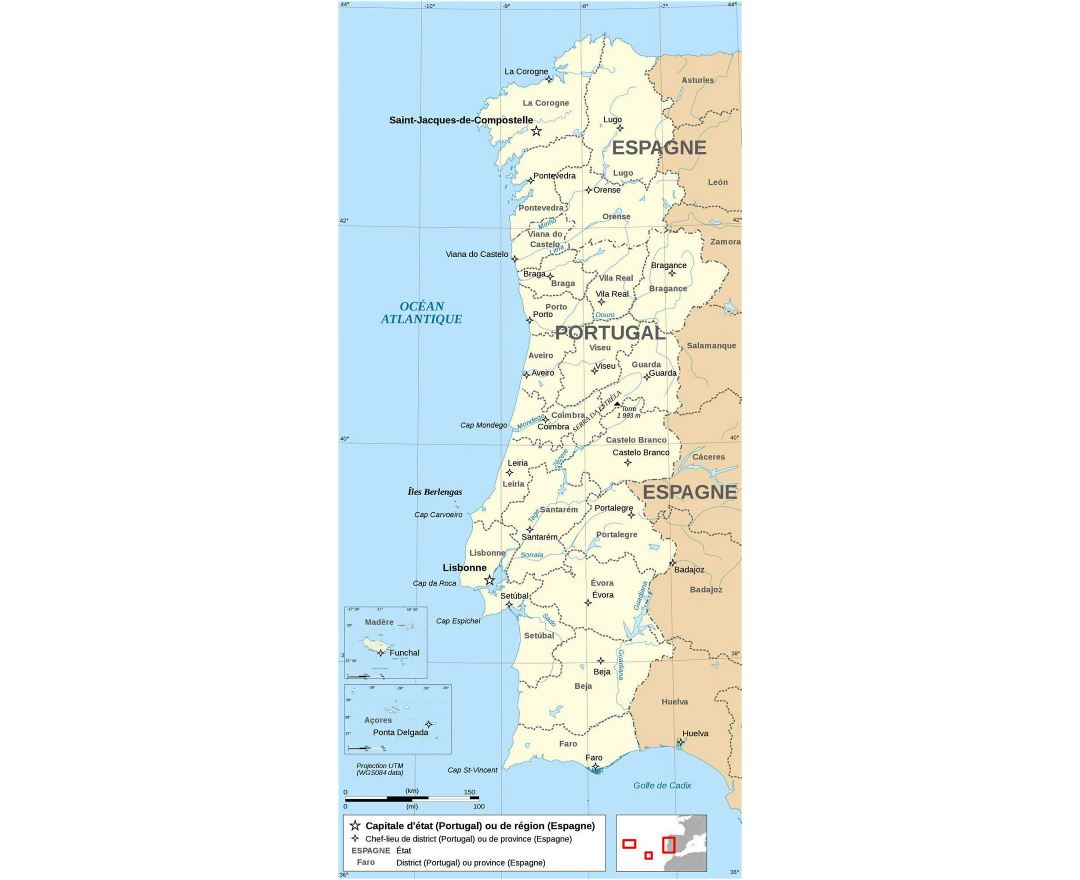 Maps Of Portugal Detailed Map Of Portugal In English Tourist - Portugal beja map