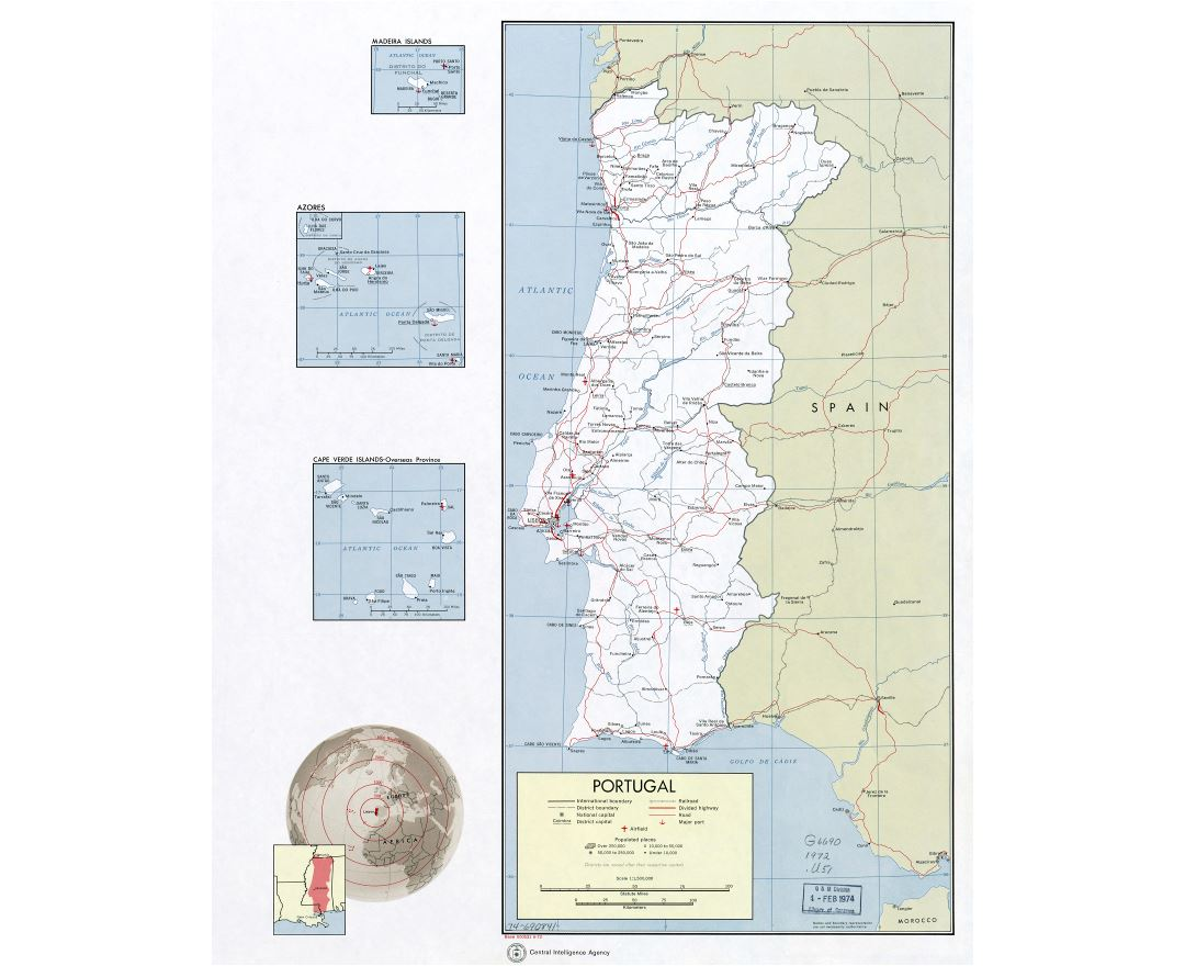 Maps Of Portugal Detailed Map Of Portugal In English Tourist - Portugal map sea