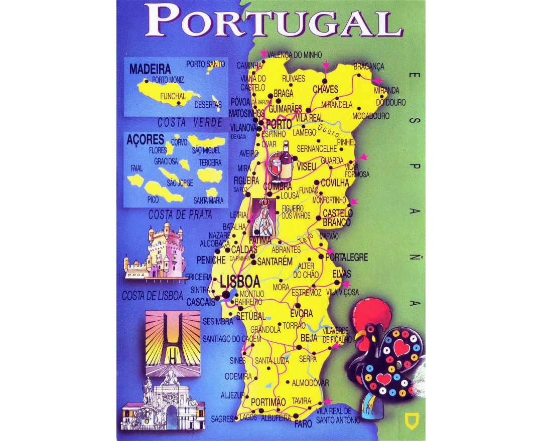Maps of Portugal Detailed map of Portugal in English – Portugal Tourist Map