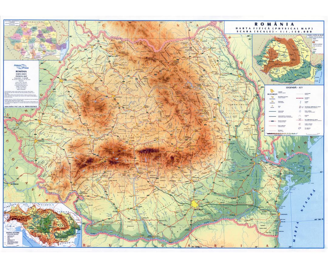 Maps Of Romania Collection Of Maps Of Romania Europe