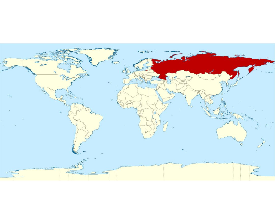 Large location map of Russia