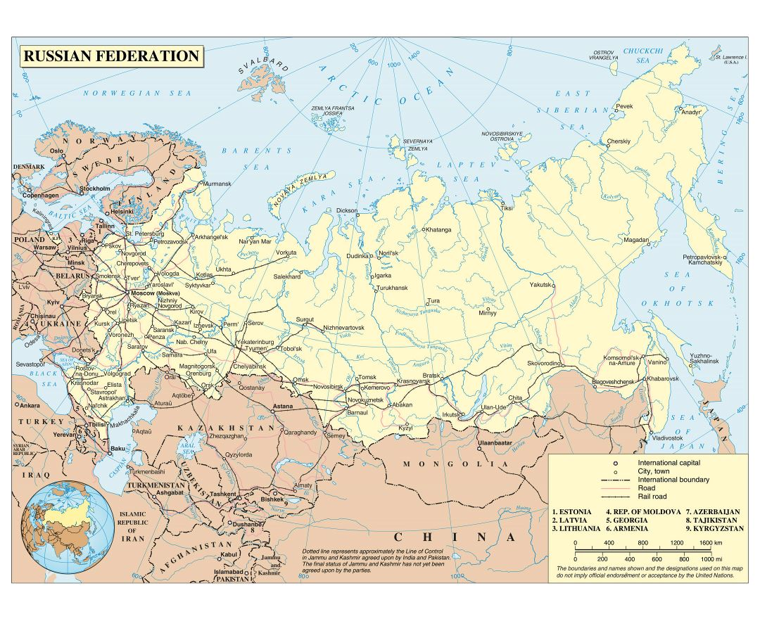 Maps of Russia | Collection of maps of Russia | Europe | Mapsland ...