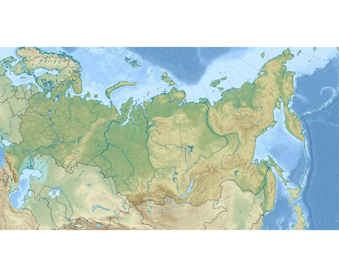 Large relief map of Russia