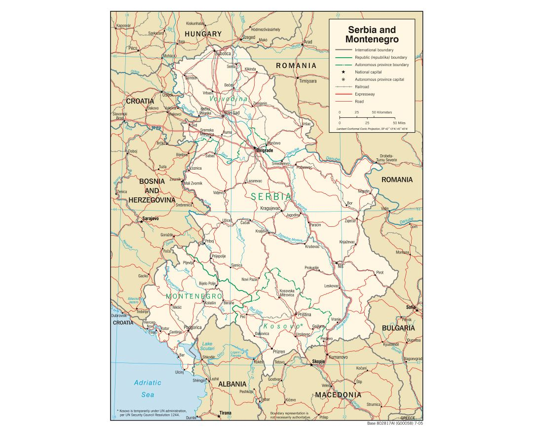Maps of Serbia Detailed map of Serbia in English Tourist map
