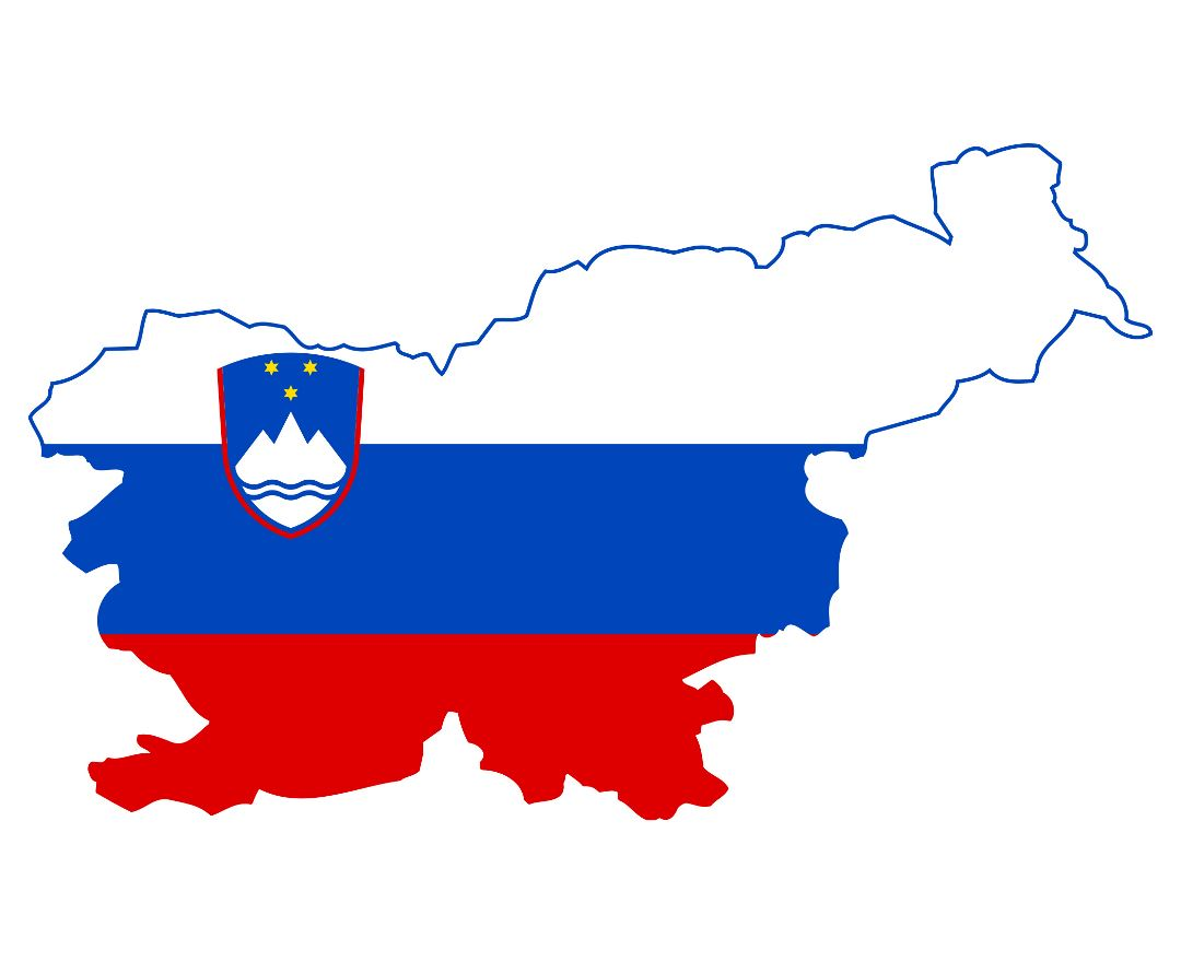 Large flag map of Slovenia