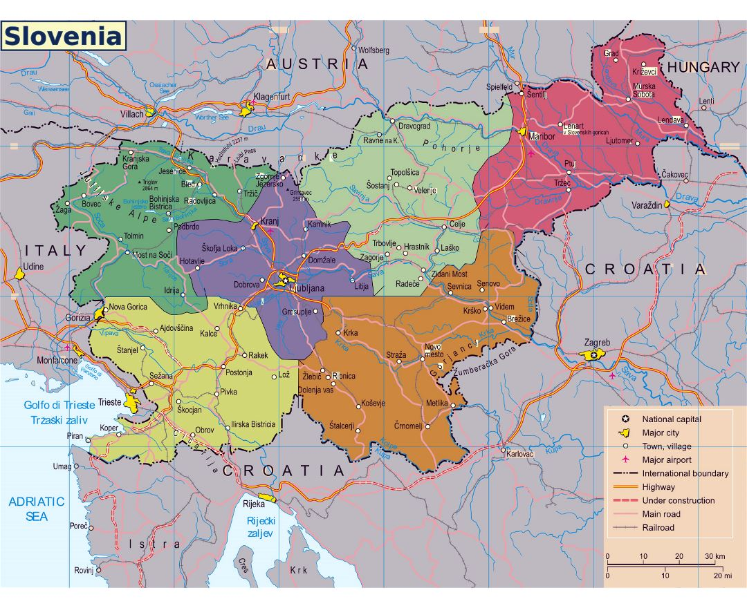 Picture of: Maps Of Slovenia Collection Of Maps Of Slovenia Europe Mapsland Maps Of The World
