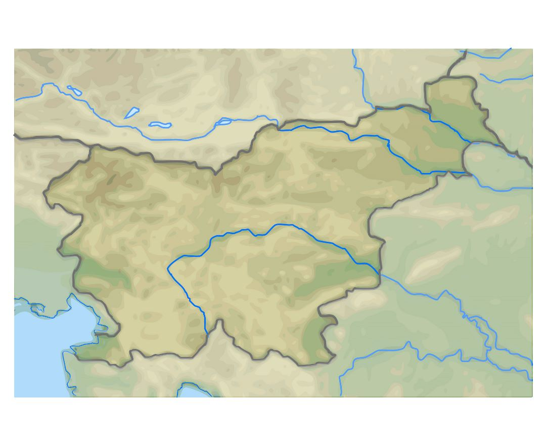 Large relief map of Slovenia
