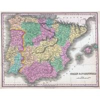 Road Map Of Portugal And Spain.Large Road Map Of Spain And Portugal With Cities Spain Europe
