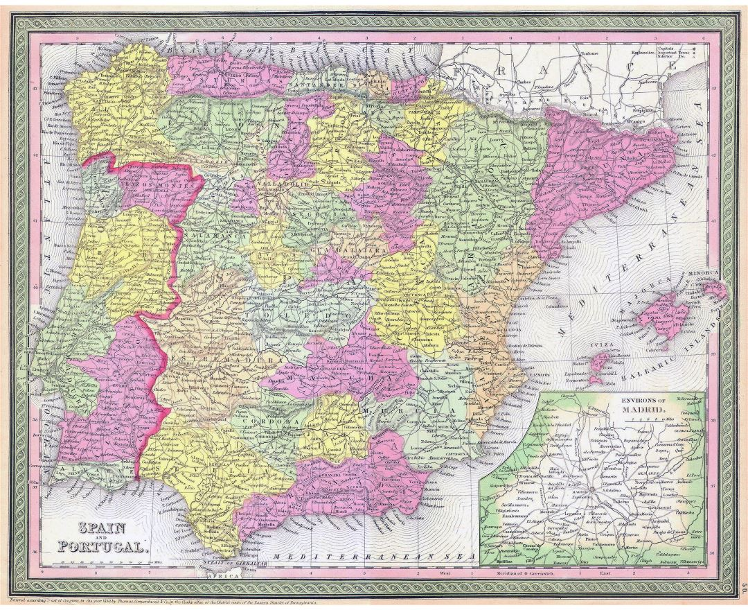 Maps Of Spain Detailed Map Of Spain In English Tourist Map - Portugal map english