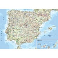 Map Of Spain Eibar.Large Road Map Of Spain With Cities And Airports Spain Europe