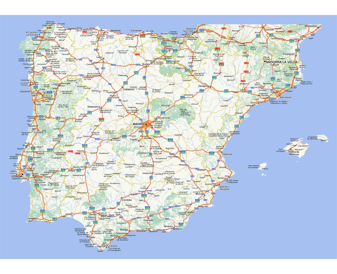 Map Of Portugal And Spain Detailed.Maps Of Spain Collection Of Maps Of Spain Europe Mapsland