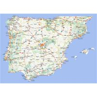 Road Map Of Spain.Large Road Map Of Spain And Portugal With Cities And Airports