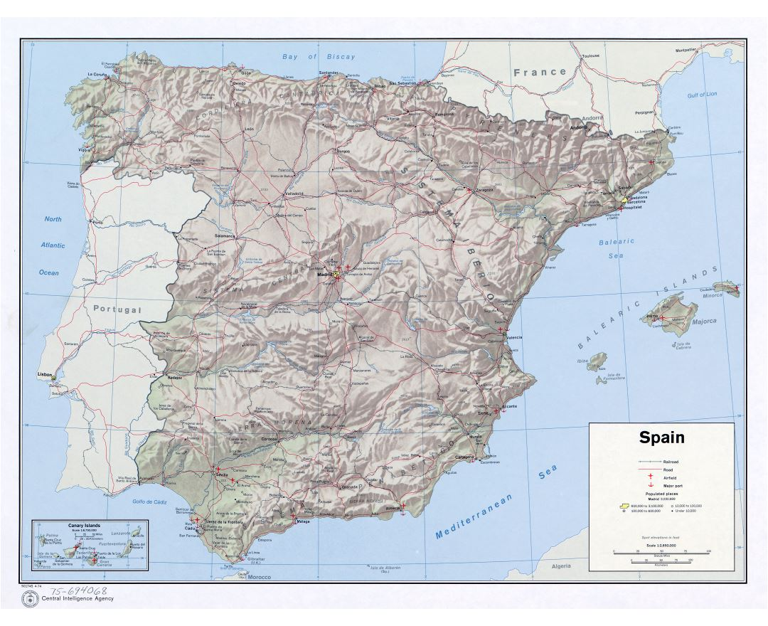 Maps Of Spain Detailed Map Of Spain In English Tourist Map - Portugal map with airports