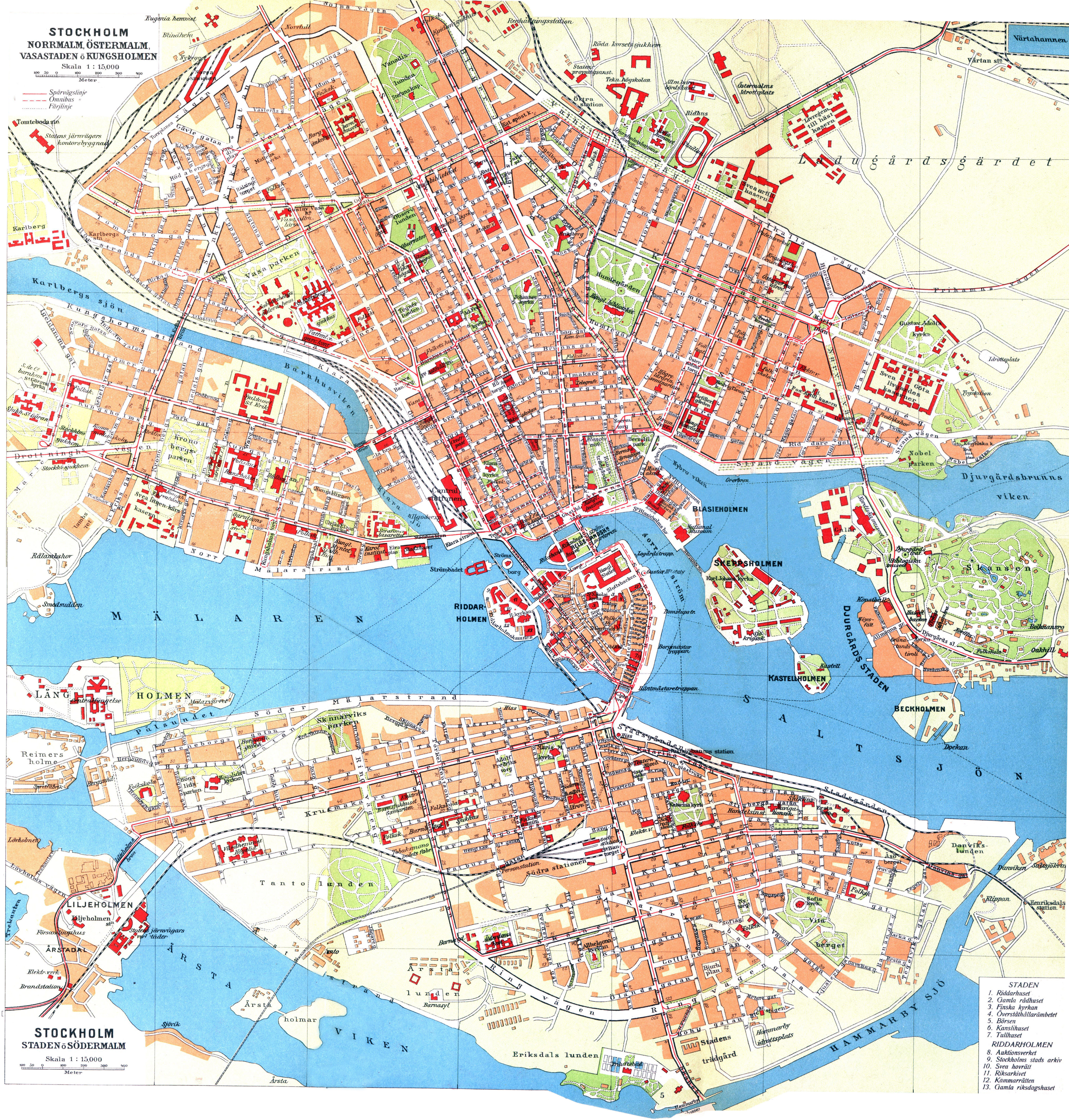 Large Detailed Old Map Of Stockholm City Stockholm Sweden - Sweden map stockholm