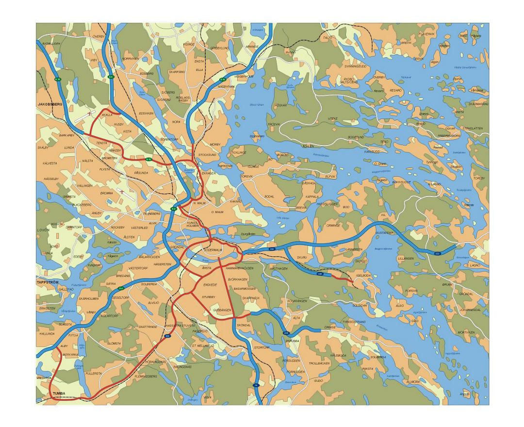 Transit map of Stockholm city