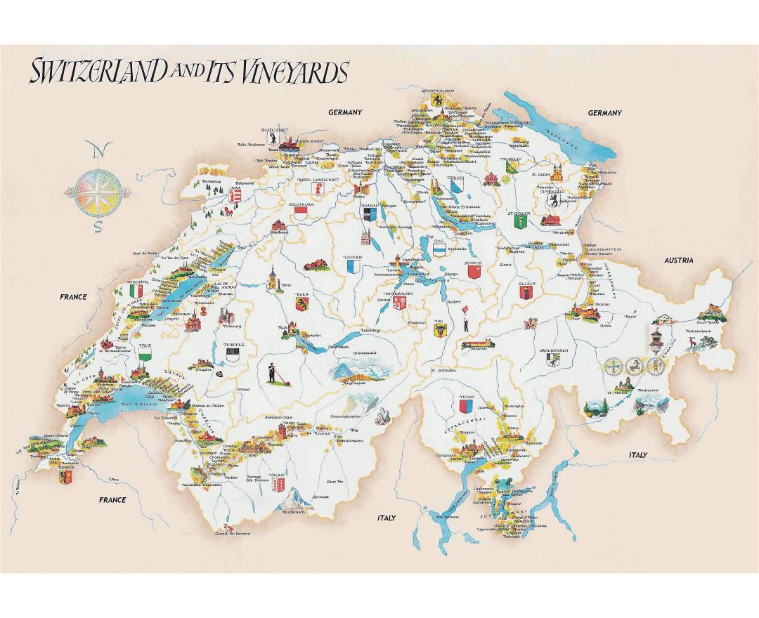 Maps of Switzerland Detailed map of Switzerland in English