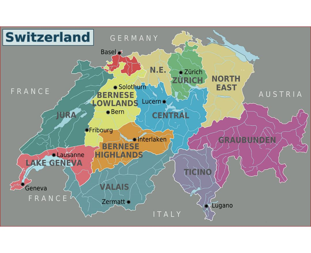 Map Of Germany Switzerland And Italy.Maps Of Switzerland Collection Of Maps Of Switzerland Europe