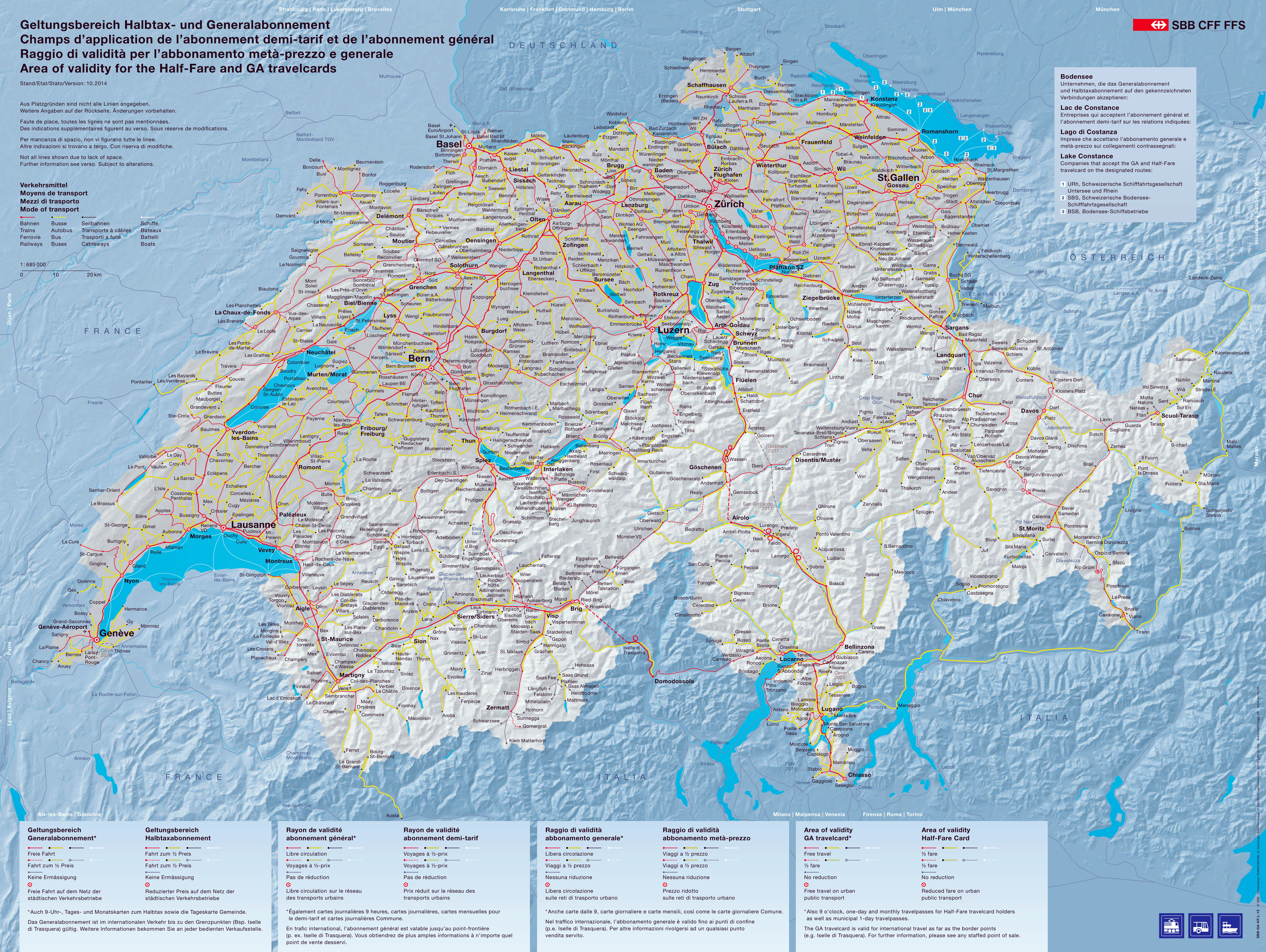 Map Of Europe With Scale.Large Scale Transport Map Of Switzerland Switzerland Europe