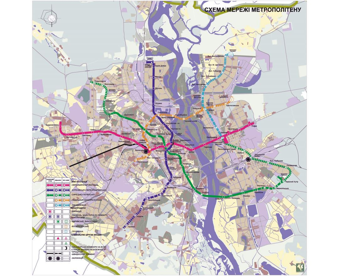 Maps of Kiev Detailed map of Kiev in English and Russian Tourist