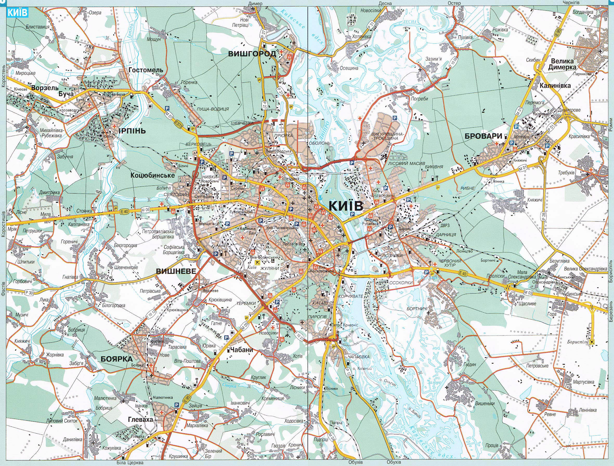 Large Detailed Transit Map Of Kyiv City In Ukrainian Kiev