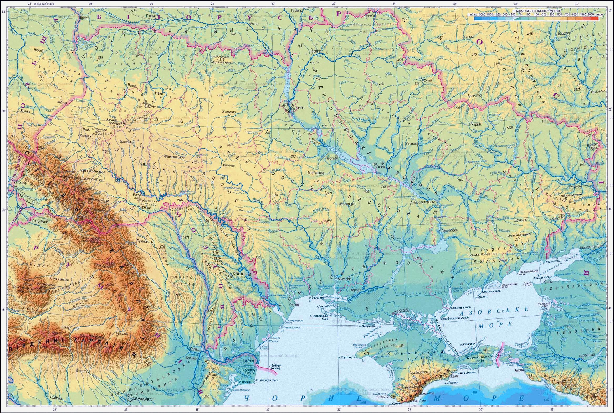 Large elevation map of ukraine in ukrainian ukraine europe large elevation map of ukraine in ukrainian gumiabroncs Gallery