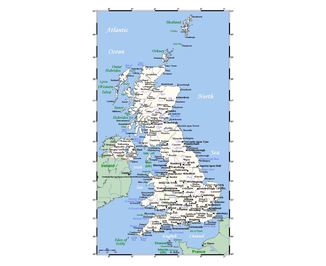 Detailed Map Of England Cities.Maps Of United Kingdom Collection Of Maps Of United Kingdom