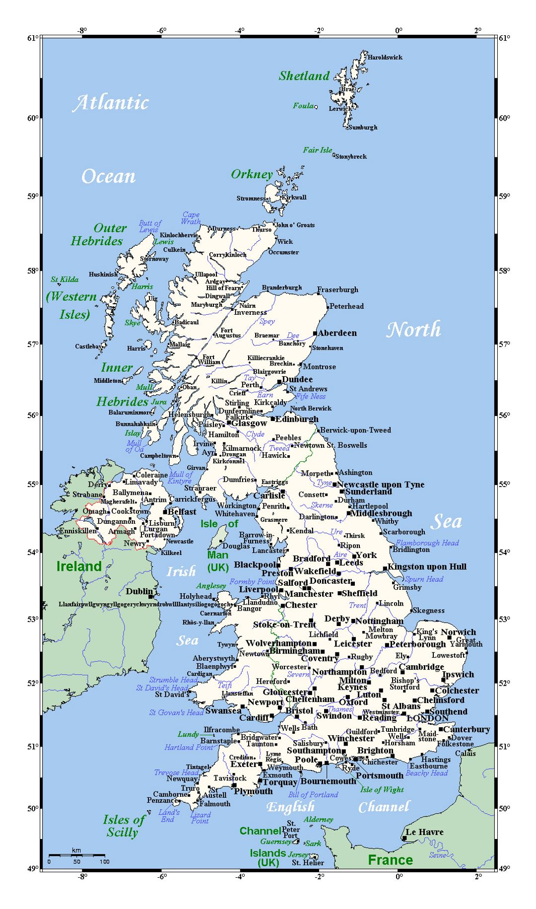 Detailed Map Of England Cities.Detailed Map Of United Kingdom With Cities United Kingdom