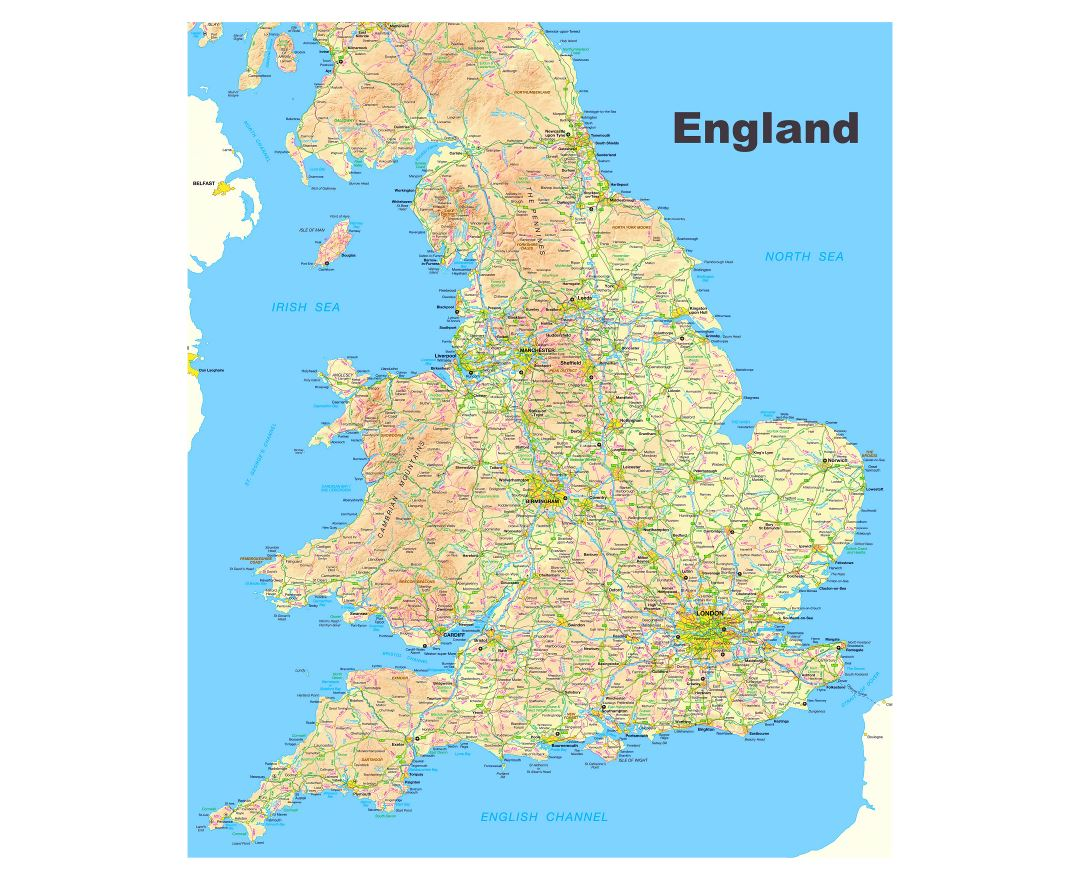 Large Detailed Map Of England.Maps Of England Collection Of Maps Of England United Kingdom