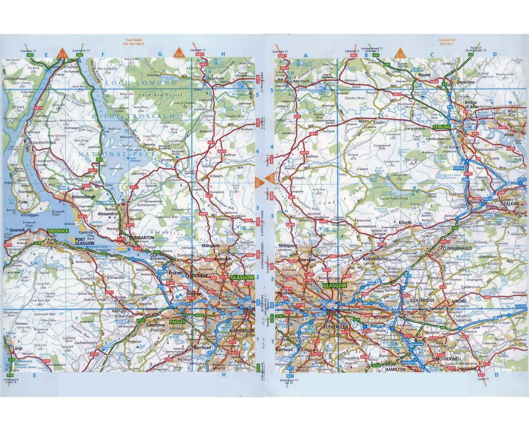 Maps of Glasgow Detailed map of Glasgow in English Tourist map