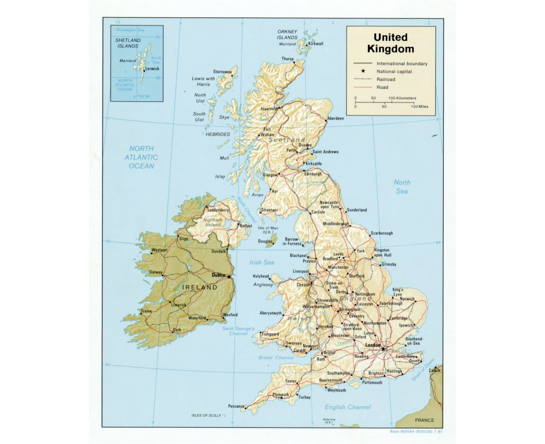 Maps of United Kingdom Detailed map of United Kingdom in English