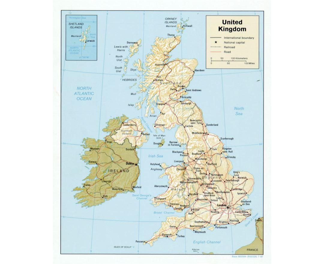 Large Detailed Map Of England.Maps Of United Kingdom Collection Of Maps Of United Kingdom