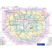 London City Tourist Map.Large Tourist Map Of London City Center London United Kingdom