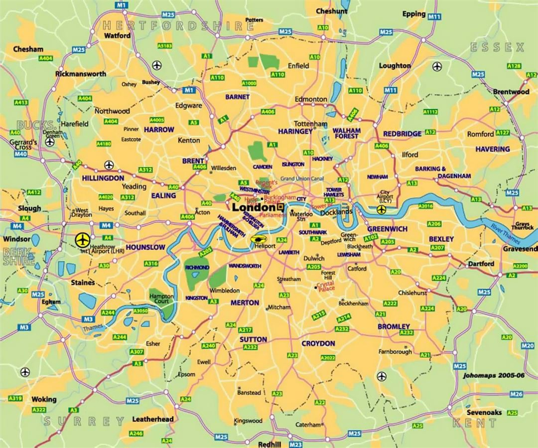 transit map of london city