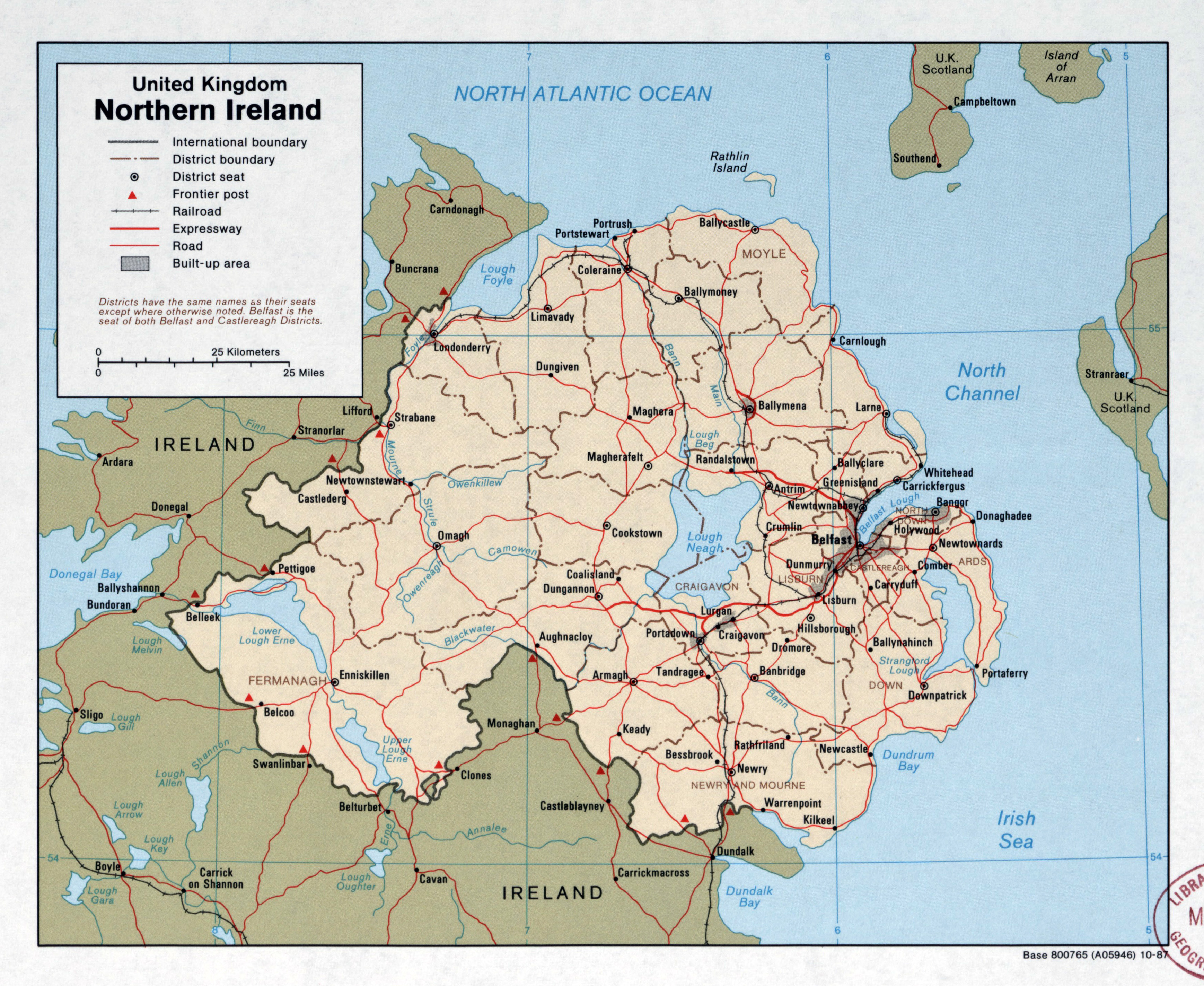 Map Of Northern Ireland Cities.Large Scale Political And Administrative Map Of Northern Ireland