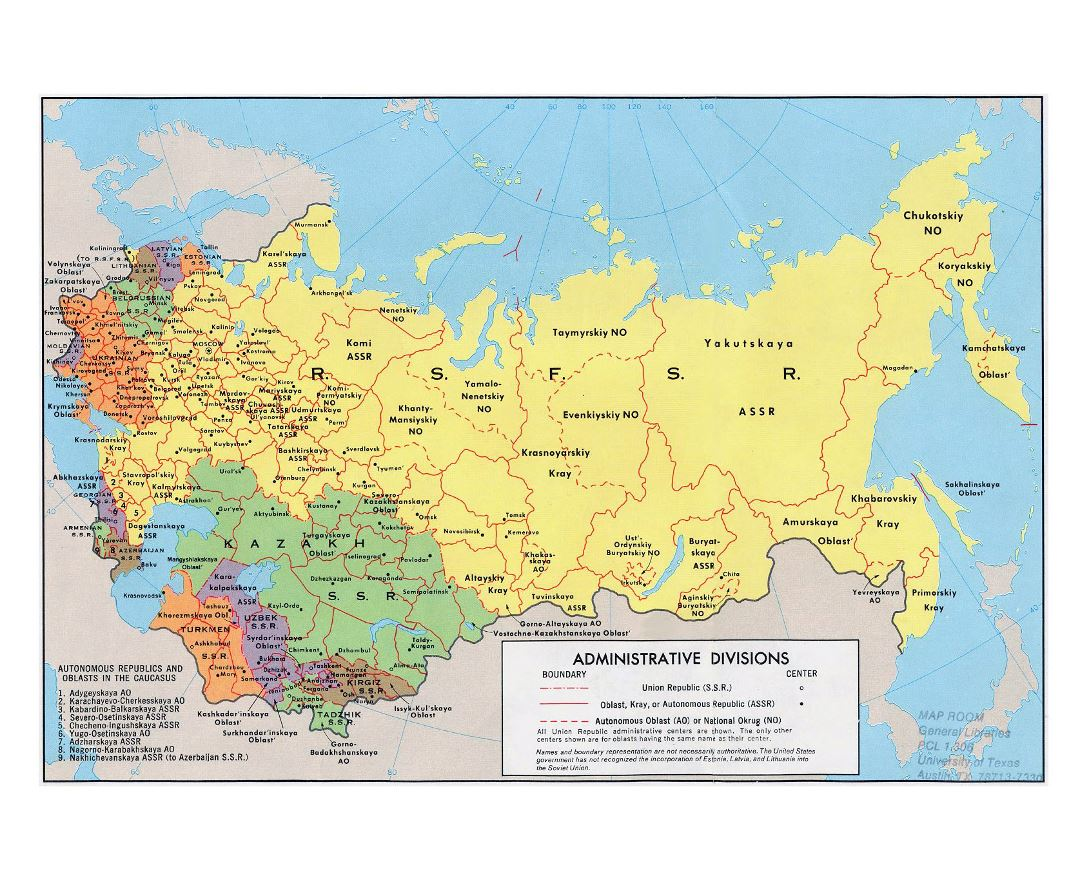 Maps of the ussr detailed map of the ussr soviet union large detailed administrative divisions map of the soviet union 1974 gumiabroncs Image collections