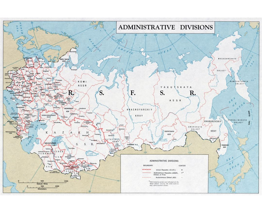 Maps of the ussr detailed map of the ussr soviet union large scale administrative divisions map of the ussr 1961 gumiabroncs Image collections
