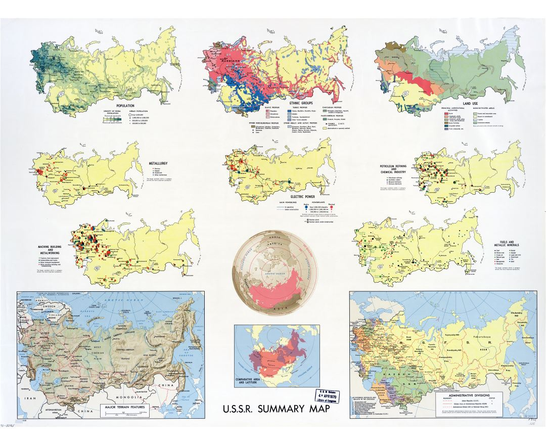 Maps of the ussr detailed map of the ussr soviet union large scale summary map of the ussr 1968 gumiabroncs Image collections