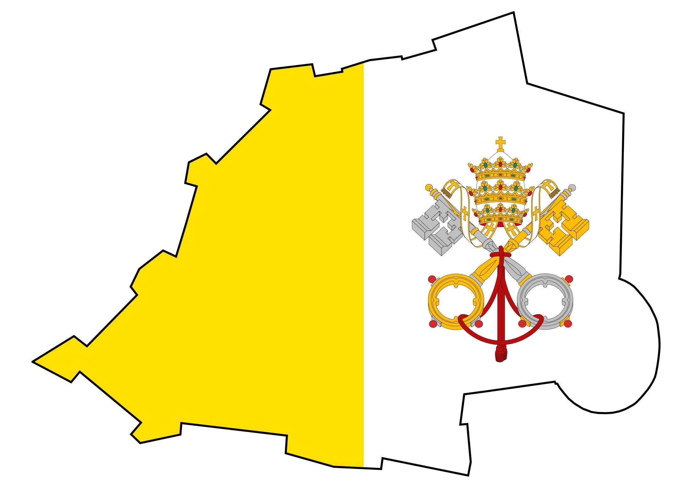 Large flag map of Vatican city Vatican Europe Mapsland Maps