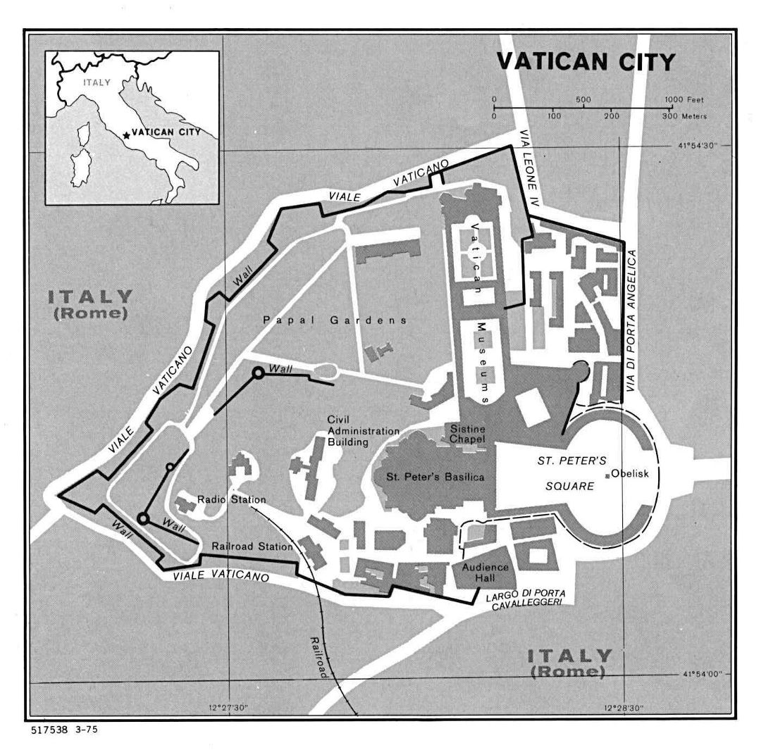 Large political map of Vatican city