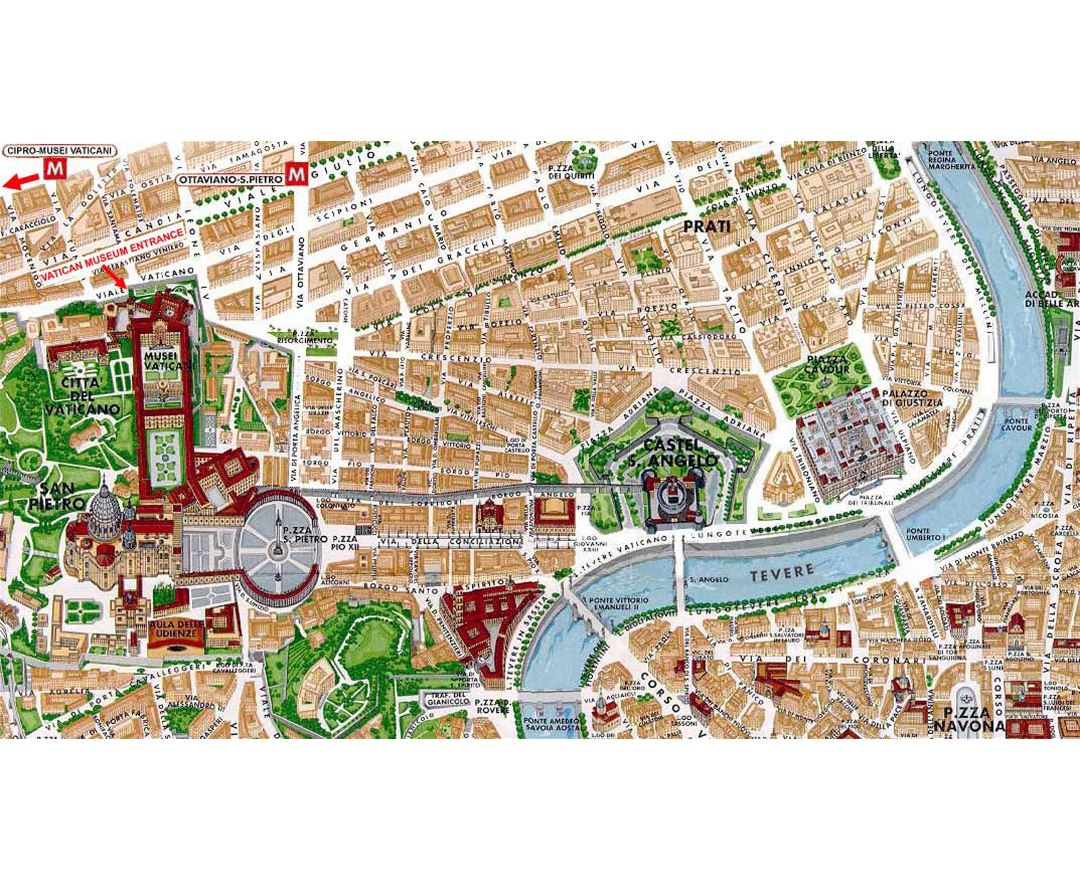 Maps of Vatican Detailed map of Vatican in English Tourist map