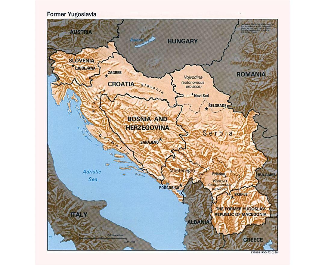 Maps of Yugoslavia   Collection of maps of Former Yugoslavia ... Yugoslavia Map on russia map, lebanon map, slovenia map, great britain map, iraq map, bosnian map, armenia map, bosnia and herzegovina, yugoslav wars, turkey map, bosnia map, breakup of yugoslavia, alps map, republic of macedonia, josip broz tito, hungary map, vatican city map, solomon islands map, europe map, ethnic map, darfur map, balkans map, brazil map, kosovo war, italy map, germany map, soviet union, bosnian war,