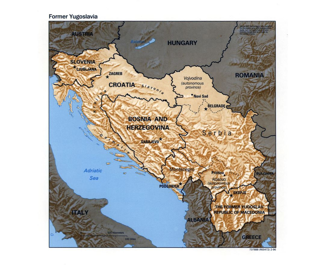 Maps of Yugoslavia Detailed map of Yugoslavia Former Yugoslavia