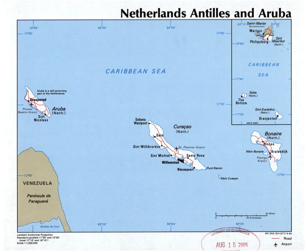 Maps of Aruba Detailed map of Aruba in English Tourist map