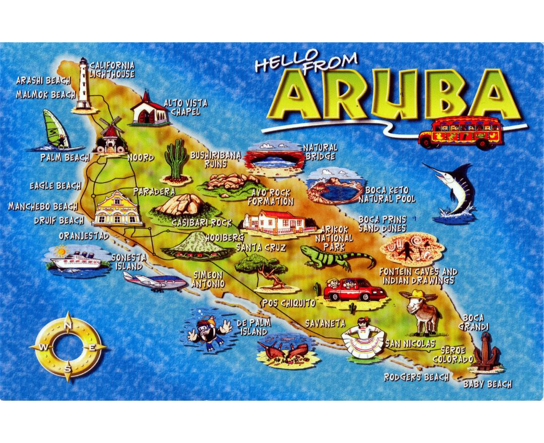 Maps of Aruba | Detailed map of Aruba in English | Tourist map ...