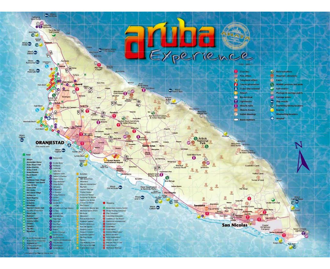Maps of aruba detailed map of aruba in english tourist map large tourist map of aruba publicscrutiny Choice Image