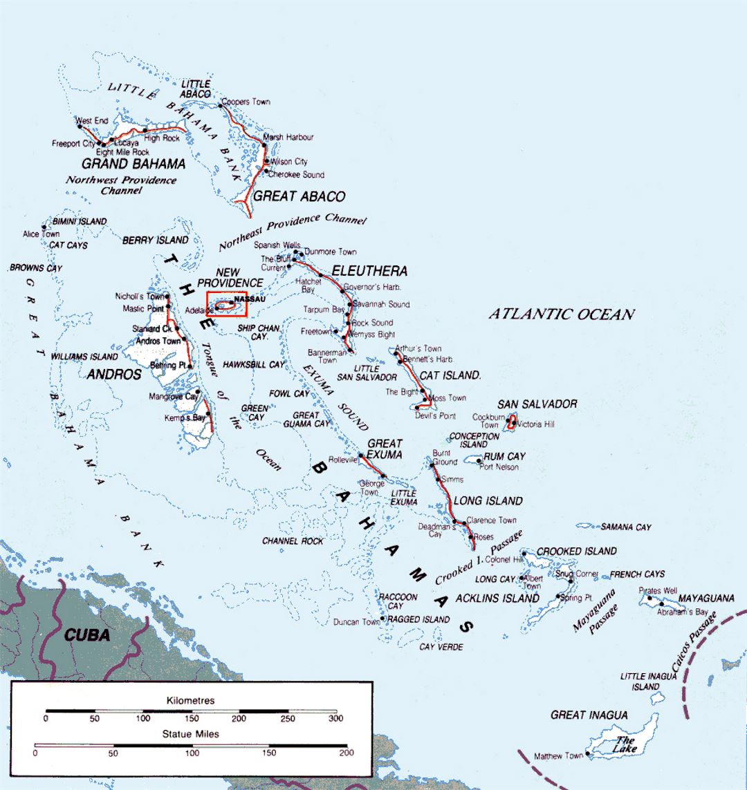 Where Is The Bahama Islands On A Map
