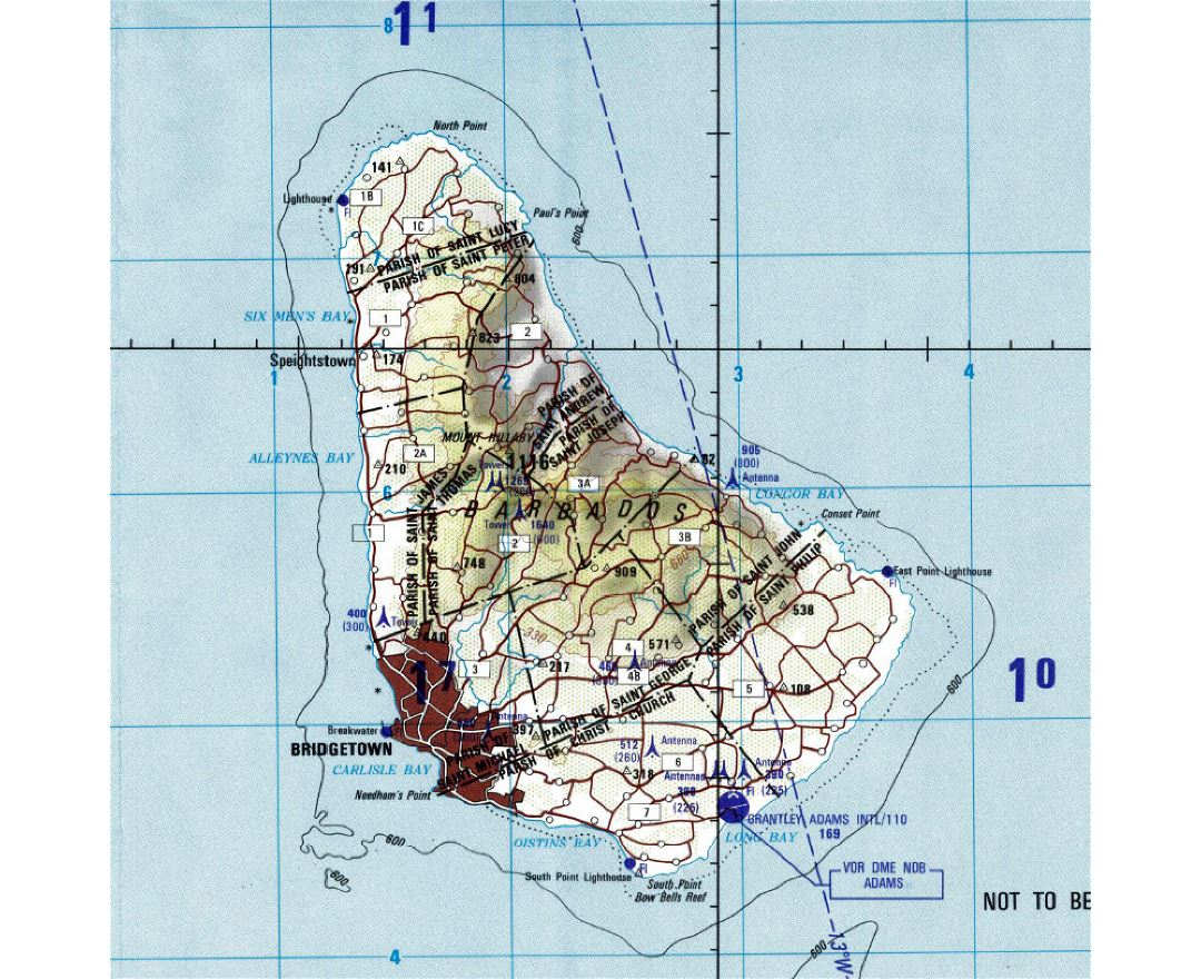 Maps of Barbados Detailed map of Barbados in English Tourist map