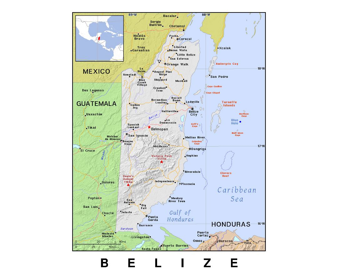 Belize River Map Rivers In Belize Atlas Of Belize Wikimedia Commons